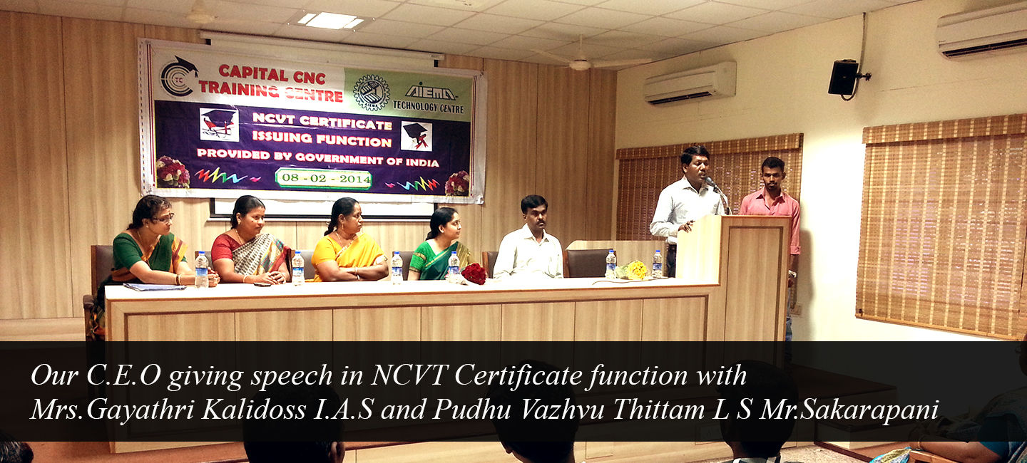 CAPITAL CNC and CAD / CAM Training center in Chennai