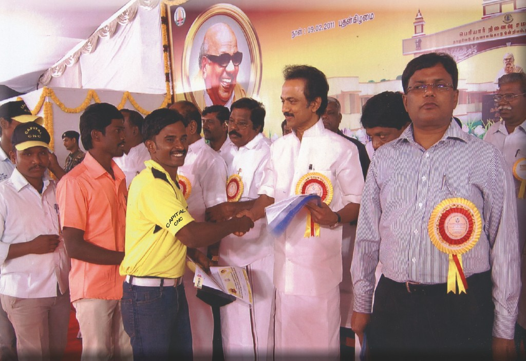 JOB PLACEMENT ORDER ISSUED BY FORMER DEPUTY CHIEF MINISTER  Mr. M. K. STALIN TO OUR CANDIDATES  ALONG WITH Mr. RAJESH I.A.S THIRUVALLUR DISTRICT COLLECTOR ON 09.02.2011
