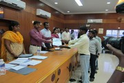 COURSE COMPLETION CERTICATES ISSUED BY Mr. VEERARAGAVA RAO I.A.S THIRUVALLUR DISTRICT COLLECTOR TO OUR CANDIDATES IN THE PRESENCE OF Mr. SHANMUGAM C.E.O ON 30.11.2012