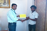 Mr. PANNEERSELVAM CAD CAM MANAGER ISSUING CERTIFICATE TO THE CANDIDATE TRAINED THROUGH MoRD SCHEME