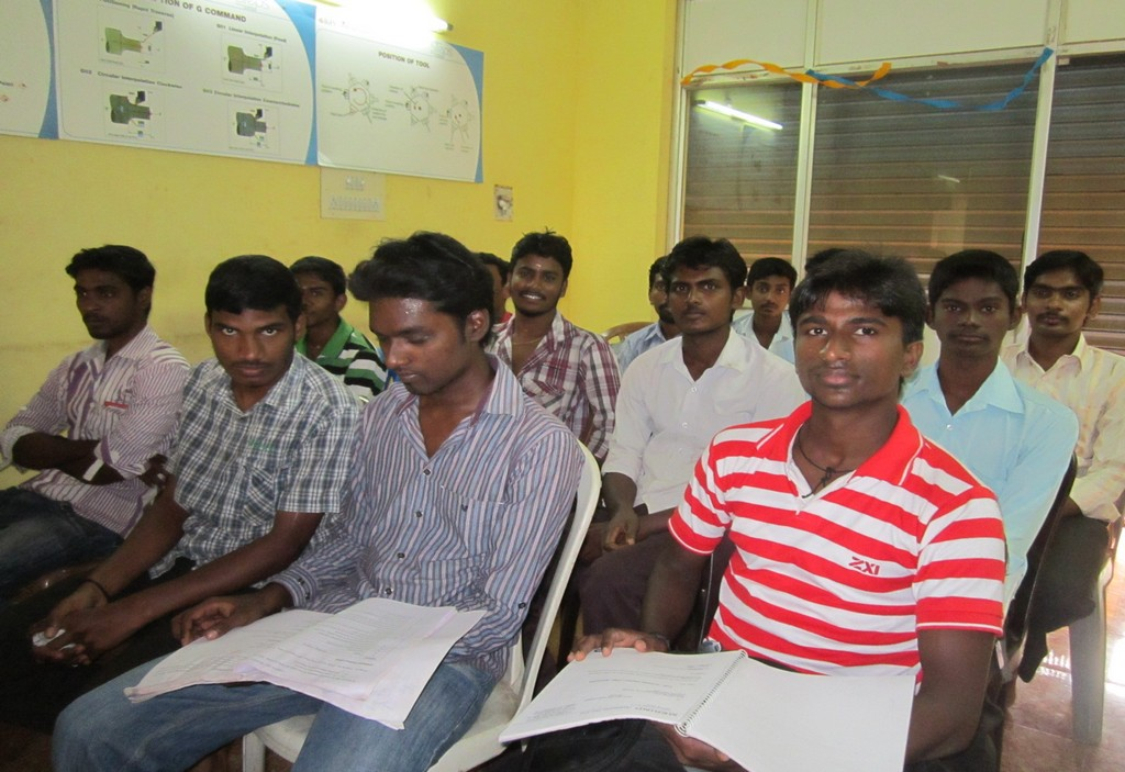 Candidates in class room for training through SJSRY scheme